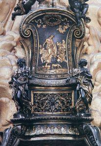 Cattedra Bernini particolare