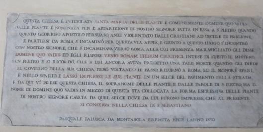 Targa Quo Vadis