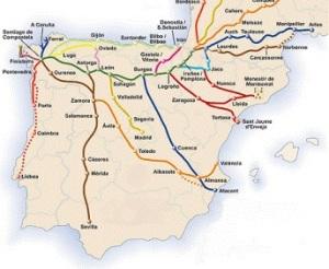 mappa camino Santiago