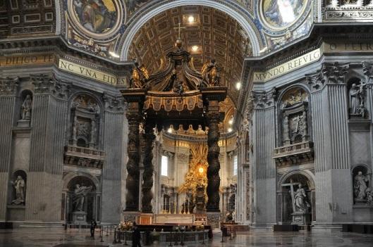 I quattro pilastri della cupola di San Pietro