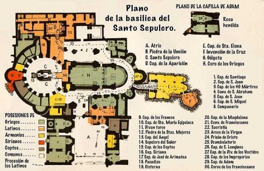 Santo Sepolcro Mappa