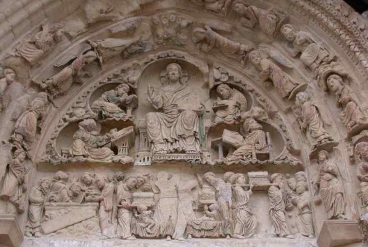 Timpano portale Nord Abbazia St. Benoît-sur-Loire, Fleury