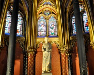 Statue of Louis IX- Lower Chapel- Sainte-Chapelle