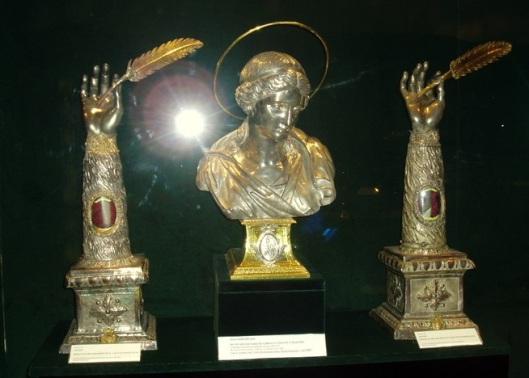 Bracci di San Matteo e San Luca evangeisti. Museo della basilica di Santa Maria Maggiore - Roma