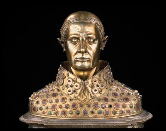 Busto reliquiario di San Gennaro, in oro, argento e pietre preziose. Sec. XIV. Cappella del Tesoro di San Gennaro, Napoli