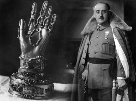 Franco e la mano di Santa Teresa