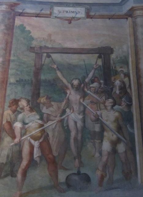 Antonio Tempesta. Martirio di San Primo (1586). Roma, Santo Stefano Rotondo