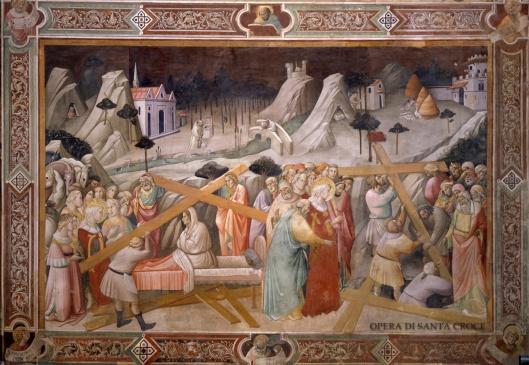 Agnolo Gaddi. Riconoscimento della Vera Croce. Cappella Maggiore. Basilica Santa Croce, Firenze.