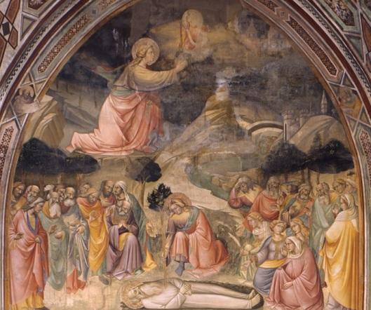 Agnolo Gaddi, sec. XIV. Morte di Adamo. Ciclo iconografico