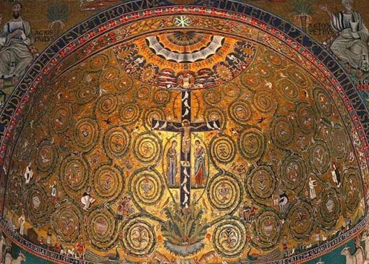 L'albero della vita. Mosaico Secolo XII. Basilica di San Clemente, Roma