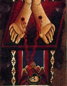 A. Sotio (secolo XII). Crocifisso (particolare). Duomo di Spoleto