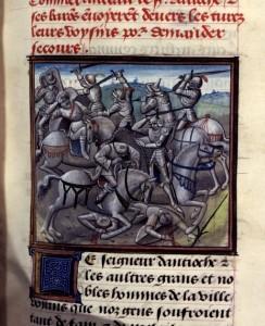La battaglia di Antiochia. Miniatura del XV secolo