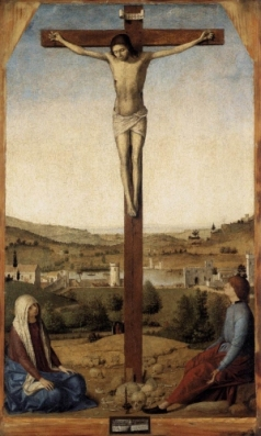 A. da Messina (secolo XV). Crocifissione. National Gallery. Londra