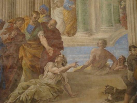 G. Lanfranco (secolo XVII). La piscina probatica. Chiesa dei Santi Apostoli. Napoli