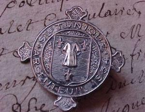 Distintivo commemorativo dell'ostensione del 1934 della Sacra Tunica