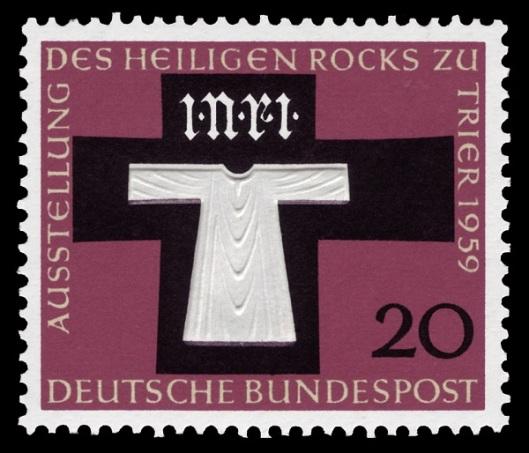 Francobollo commemorativo dell'ostensione del 1959 della Sacra Tunica