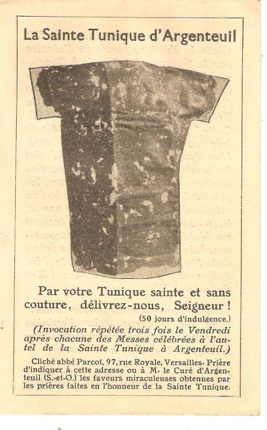 Cartello pubblicitario ad uso dei pellegrini realizzato in occasione dell'0stensione del 1934. La didascalia recita: