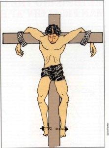 Ipotesi di come fu crocifisso l'uomo trovato nel sepolcro di Giv-at ha-Mitvar