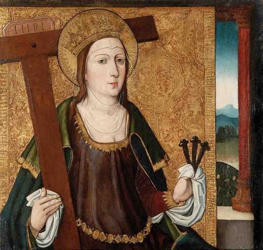 Sant'Elena con la croce ed i chiodi. Scuola castigliana, XV secolo