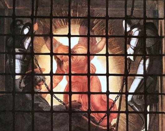 Ra ffaello Liberazione San Pietro particolare
