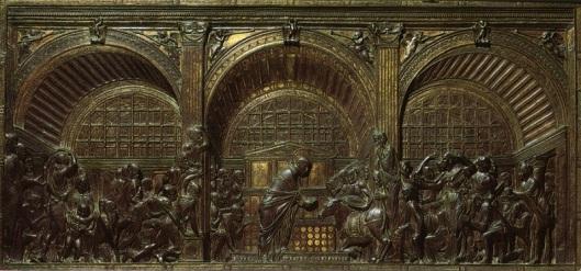 Donatello,_miracolo_della mula, basilica